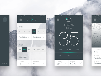 Travel app design concept tourism hostel hotel ui ux sketch android mobile ios iphone flat clean simple art animation interface travel