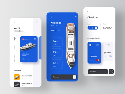 Yacht Booking Service Application - Payment Flow sport wallet payment fintech card transaction pay tavel rent rental motor charter yacht travel ship boat app service booking yachts