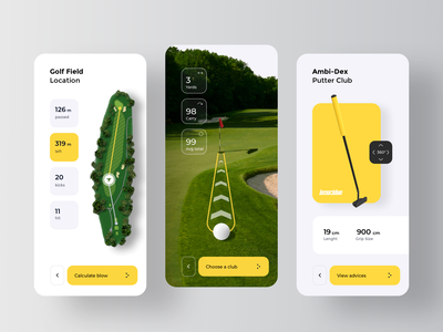 AR Golf Application machine learning learning machine stats fitness bookmaker betting bets bet live augmented reality sport ar app rondesign golf