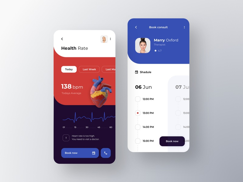 Doctor Appointment Online hospital app fitness tracker clinic pharmacy service heart diagnostic diagnosis health app health care health medicine rondesign healthcare booking doctor