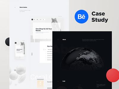 Rondesignlab.com — Behance Case Study website web uiux ui desktop project animation casestudy behance rondesign