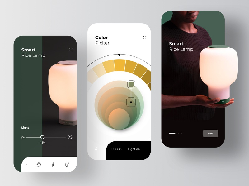 Smart Lamp Application furniture design furniture app furniture augmented reality augmentedreality smarthome lightning light lamp smart home rondesign