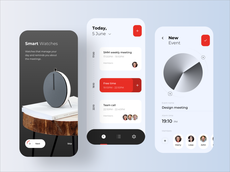 Smart Watch With Notifications list plans tasks task onboarding calendar meeting to do shedule machinelearning machine learning learning machine notification rondesign watch