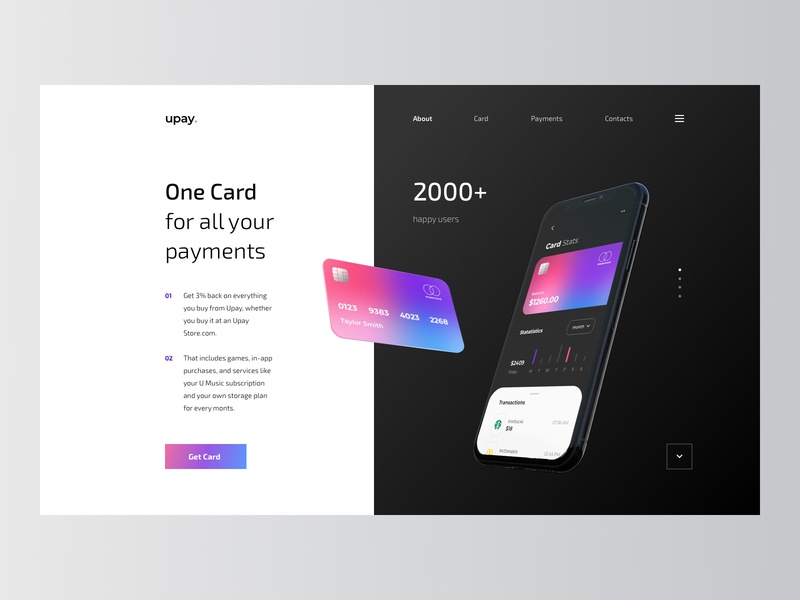 Website for the Mobile Banking visa mastercard revolt money money app wallet banking app bank account transfer business banking paypal payment finance bank card website bank app fintech app rondesign