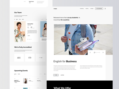Website for English Language School development visual landing page employer entrepreneur business startup homepage web school website rondesign