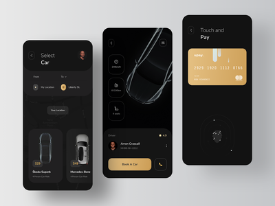 The Application for calling of Premium Cars driver transport uber passenger vehicle road navigation learning driving car automotive augmented reality augmentedreality ar rondesign taxi booking app