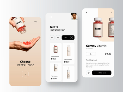 Hims - Pharmacy Mobile Application (Animation) service pharmaceutical pharma online shop online medical medicine medecine healthcare health ecommerce drugstore rondesign app pharmacy