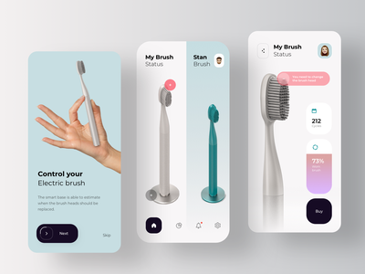 Application for Smart Toothbrush health care health app medical design medicine medical care toothbrush dental care tooth dental clinic medical app platform treatment medecine medical augmentedreality health app rondesign healthcare