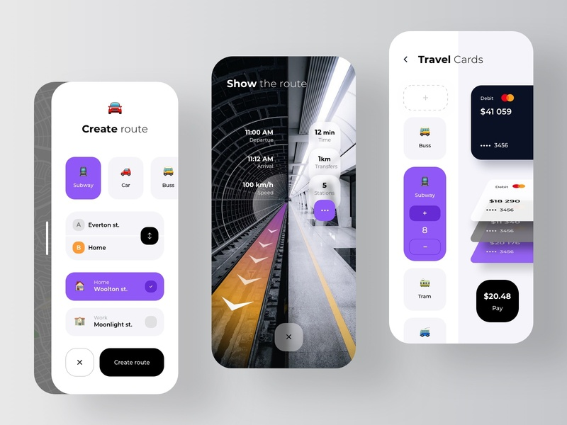 Subway AR Navigation transition wallet machine learning ar app app taxi navigation augmented reality augmentedreality ar route train ticket transport fintech pay rondesign subway