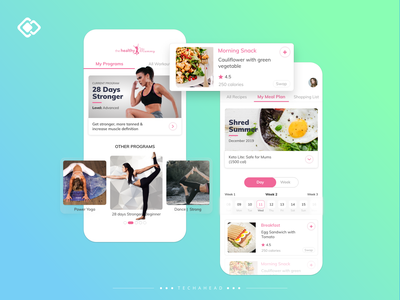 The Healthy Mummy ecommerce icon graphics branding california los angeles fitness club fitness logo fitness app fitness side bar search profile user experience design user interface design user experience user interface user profile