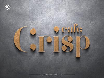 Cafe Crisp art meeting room reception wall logo signage logo design illustration vector graphics branding