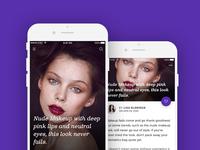 Fashion blog ios app