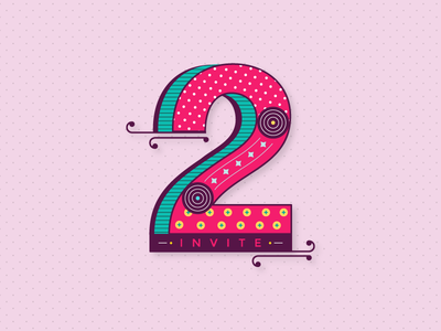 Two Dribbble invites letter two dribbble typography invite