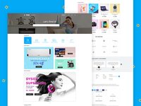 Landing page for Electronic products