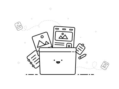 Designer's Folder illustration simple designer illustration monotone minimal