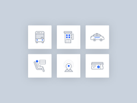 Icons design for booking