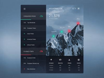 mountain climbing planner
