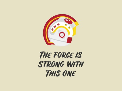 The Force is Strong With This One gouache shader shader gouache adam grason illustration vector rebels resistance rebel alliance rebellion x-wing fighter helmet pilot x-wing rebel starwars star wars