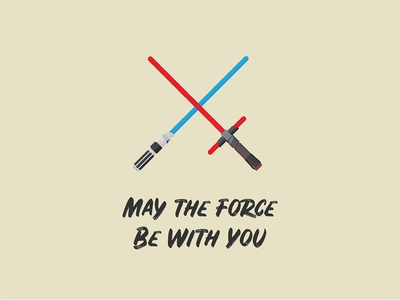 May the Force Be With You kyloren kylo rey kylo ren lightsabers lightsaber vector illustration gouache shader vector shader gouache adam grason star wars starwars