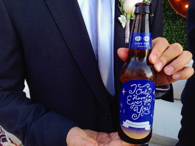 I Only Have Eyes for You typography illustration wedding beer label brewery branding brewery logo beer hand lettering logo hand lettering handlettering handletter