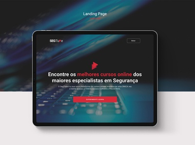 SegTube – Landing Page product design uxdesign learning platform learn technology security figma logo ux branding interface design
