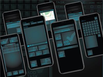 Task Manager app ux ui design graphic design