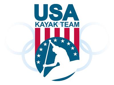 Olympic Kayak Team logo branding graphic design
