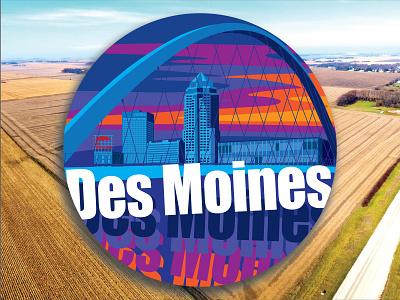 Des Moines Iowa Decal design graphic design