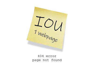 IOU a website design graphic design