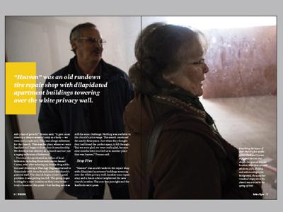 Story Spread horizons magazine layout