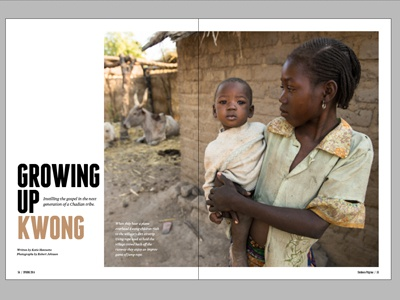 Horizons Layout - Growing Up Kwong horizons magazine article layout