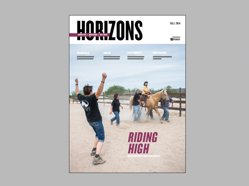 Horizons - Cover Fall 2014 horizons magazine layout cover