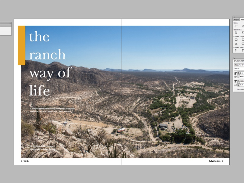 Horizons Layout - The Ranch Way of Life horizons magazine article layout team missions