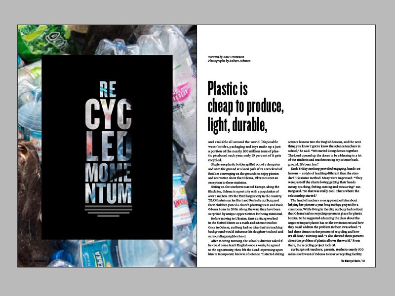 Horizons 9.4 Spread team horizons magazine layout recycle