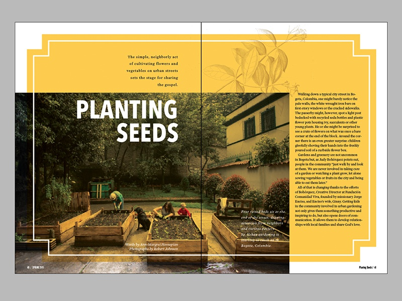 Planting Seeds horizons magazine team magazine layout