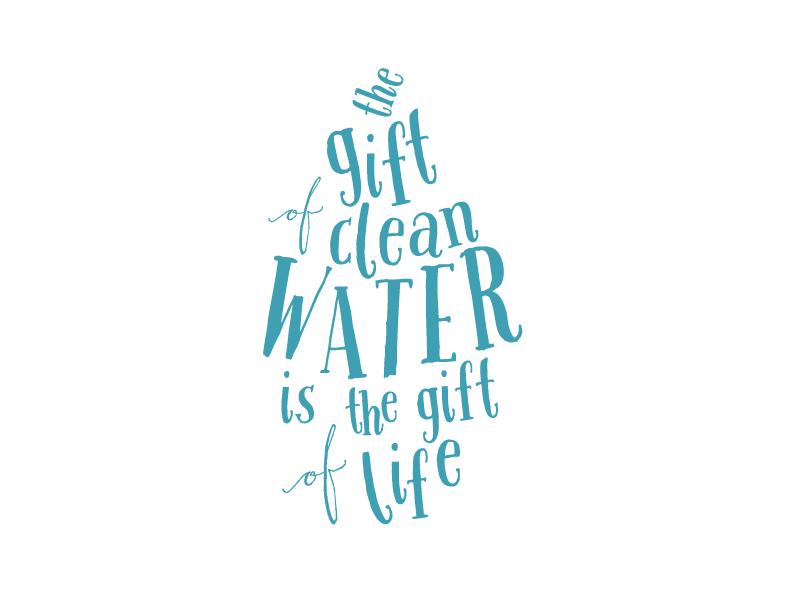 Clean Water Insert charity type drop clean water