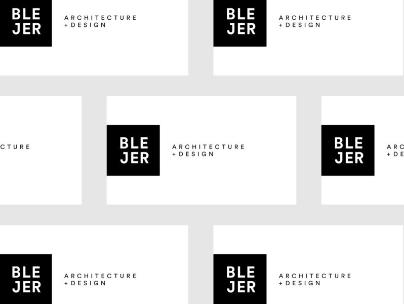 Blejer branding business card architecture flat design branding icon typography logo