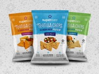 Super Eats Tortilla Chips Packaging