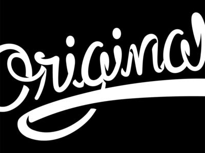 Original Type Treatment type script handlettering typography line vector illustration icon logo