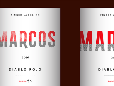 Marcos Wine Label Concepts texture beverage food design typography label wine logo packaging