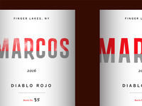 Marcos Wine Label Concepts