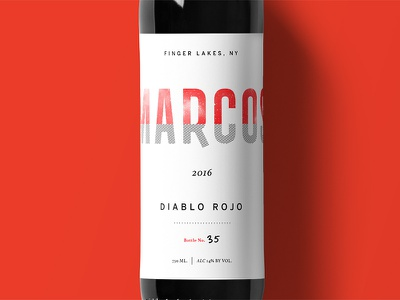 Marcos Wine Label Mockup texture beverage food design typography label wine logo packaging