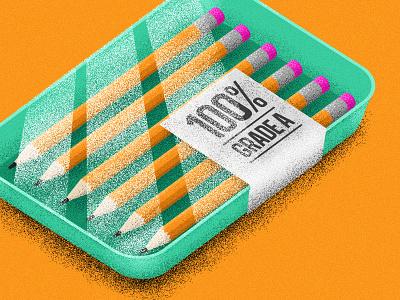 Grade A Creative meat pencils food taco bell texture flat color vector illustration