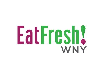 EatFresh! WNY Logo ! green vegetable typography beets illustration icon logo