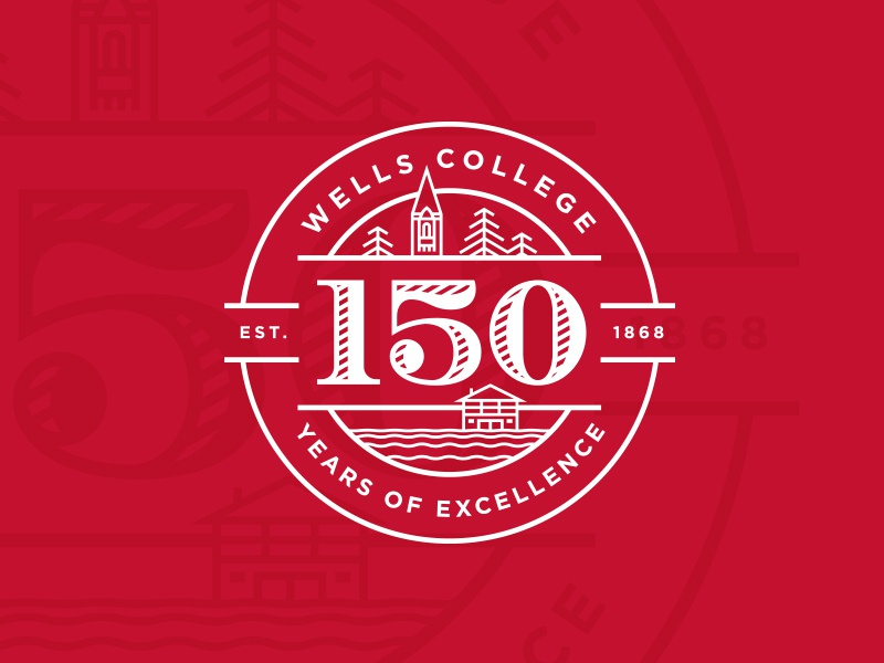 Wells college 150 logo