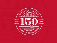 Wells College 150th Anniversary Logo