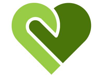 Pulse Band design flat green logo heart