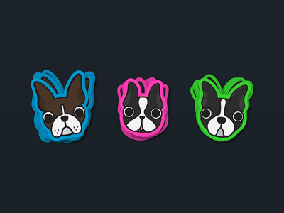 Boston Terrier Stickers stickers boston puppies puppy dog illustration dogs doggy illustration sticker dog boston terrier