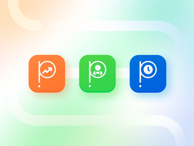 Push Operations App Icons app store icon app design time clock payroll employee push operations push app store ios application app icons app
