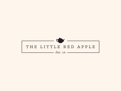 Red Apple Tea Company Logo logo design tea logo